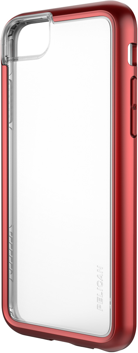 pelican c35100 iphone 8 clear red case ambassador