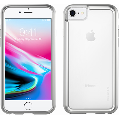 pelican c35100 silver clear iphone 8 case c35100