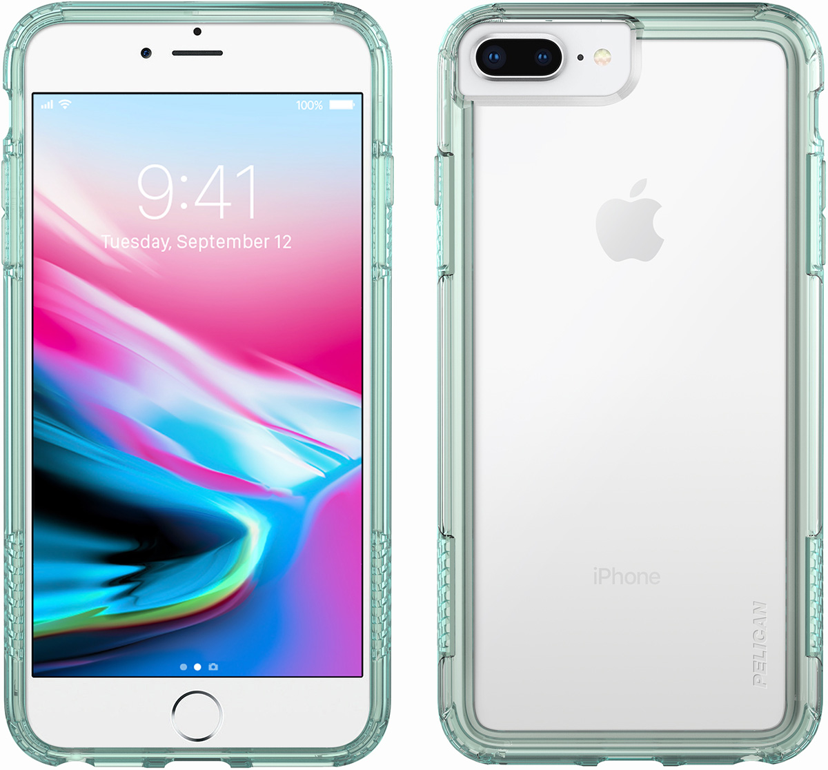 pelican c36100 clear green iphone 8 plus case