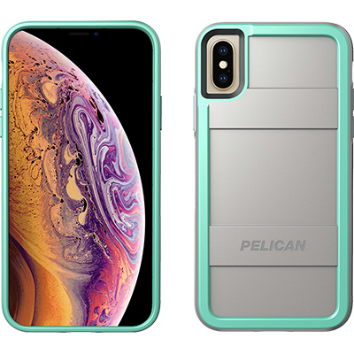 pelican c37000 aqua gray iphone xs case protector