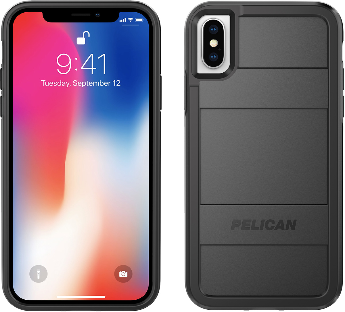 pelican c37000 iphone x case black protector