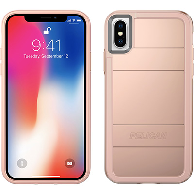 pelican c37000 rose gold iphone x case protector