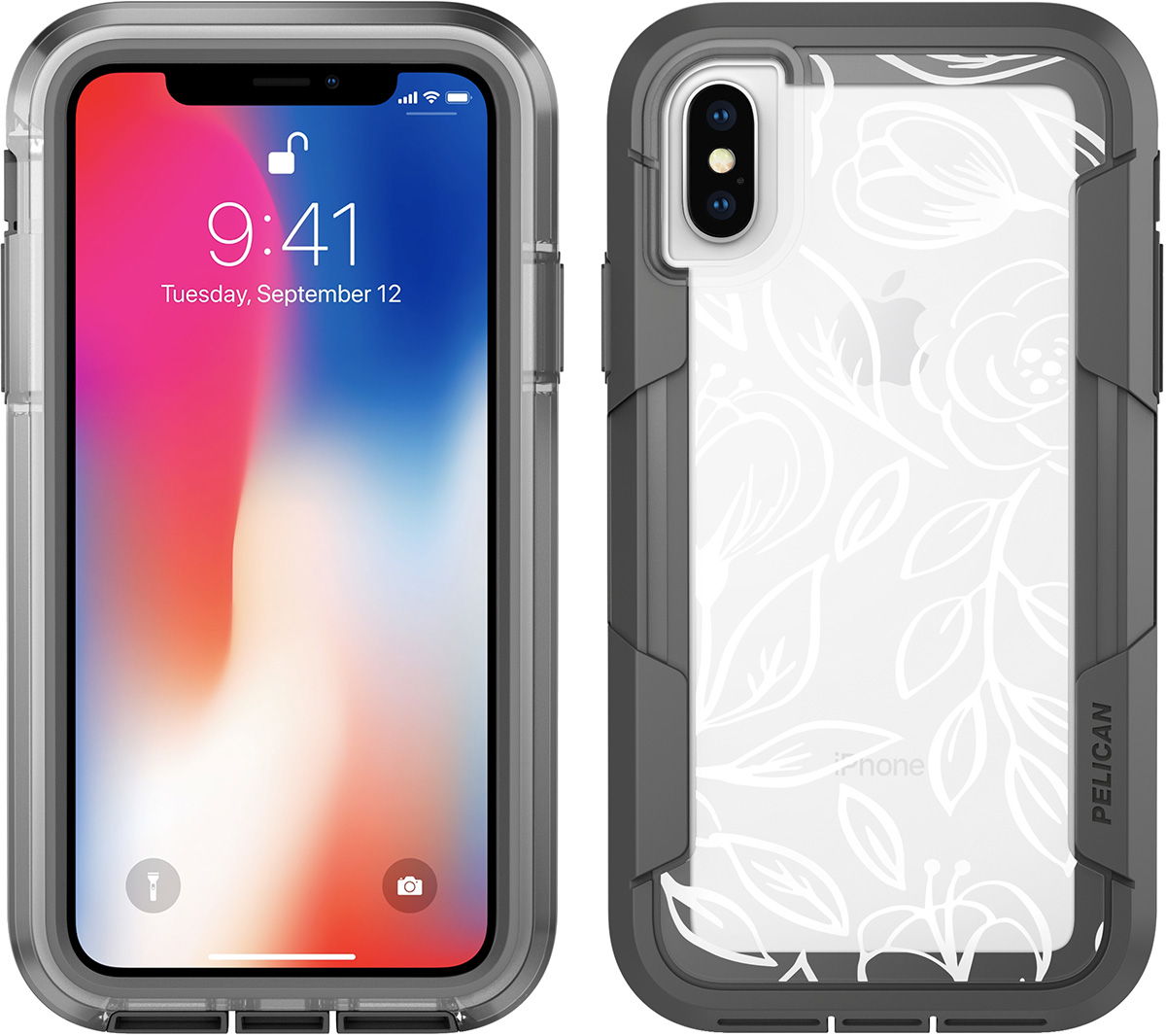 pelican clear rose iphone x case voyager