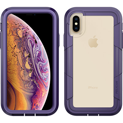 pelican c37030 iphone xs voyager clear purple phone case