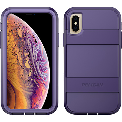 pelican iphone xs voyager purple phone case