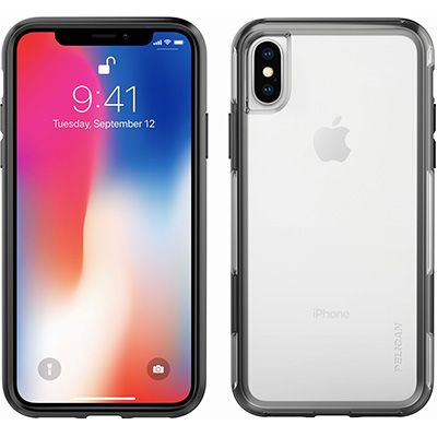pelican c37100 iphone x case clear black cases