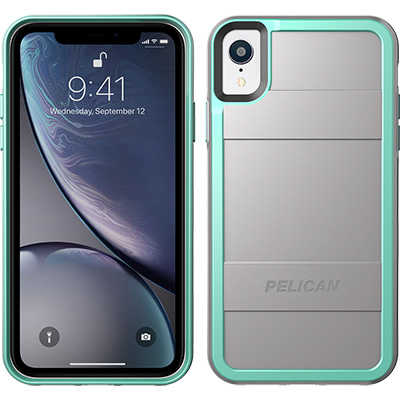 pelican c42000 apple iphone protector grey aqua phone case