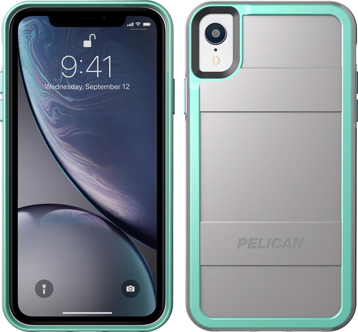 pelican apple iphone c42000 protector grey aqua phone case