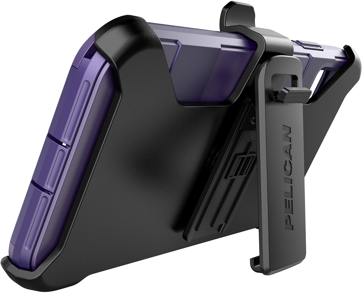 pelican c42030 apple iphone voyager purple phone case kickstand