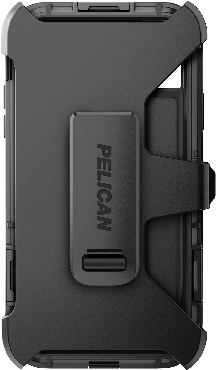 pelican c42140 apple iphone shield black phone case clip holster