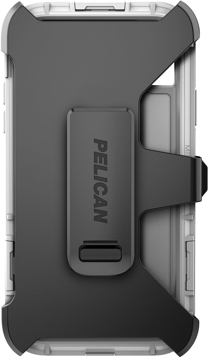 pelican c42140 apple iphone shield white phone case clip holster