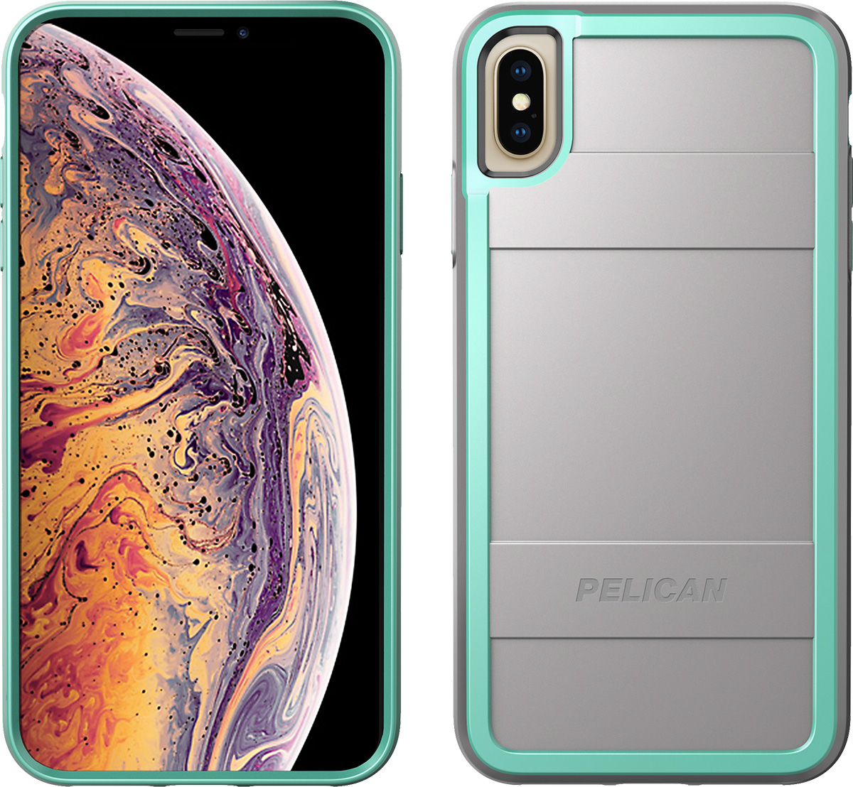 pelican c43000 apple iphone protector grey aqua phone case