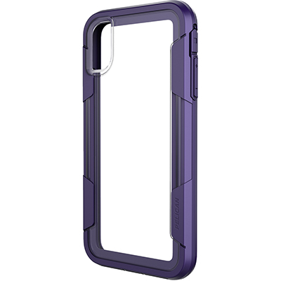pelican c43030 apple iphone voyager purple clear mobile phone case