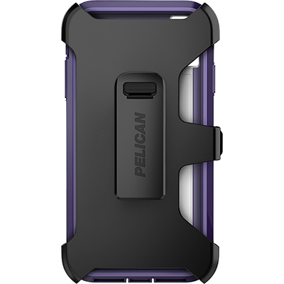 pelican c43030 apple iphone voyager purple clear phone case holster