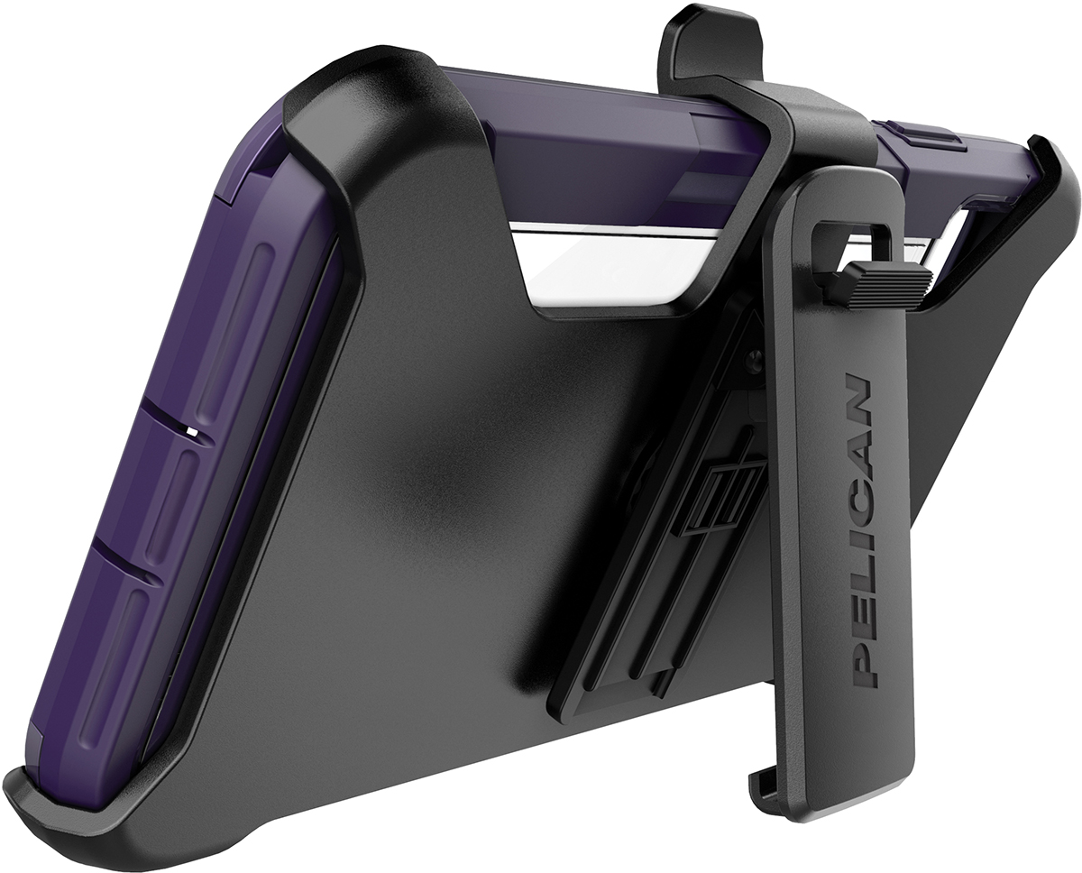 pelican c43030 apple iphone voyager purple clear phone case kickstand