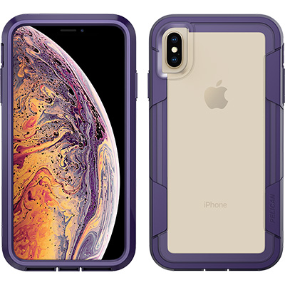 pelican c43030 apple iphone voyager purple clear phone case
