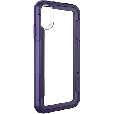 pelican c43030 apple iphone voyager purple clear slim phone case