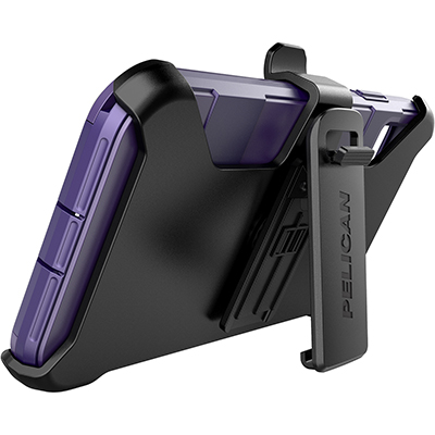 pelican c43030 apple iphone voyager purple phone case kickstand