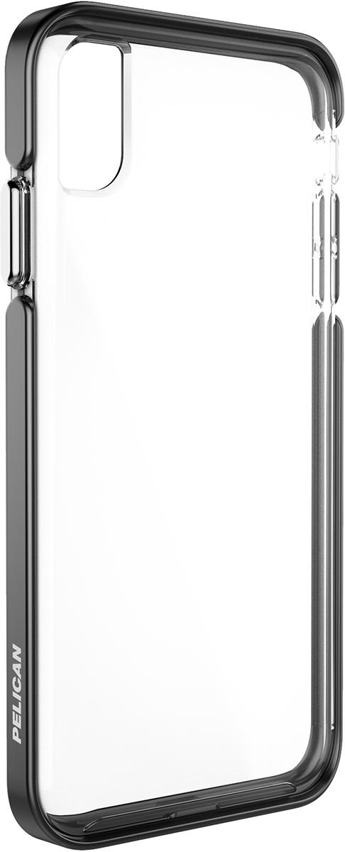 pelican apple iphone c43130 ambassador black silver clear phone case