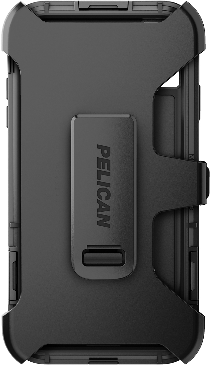 pelican apple iphone c43140 shield black phone case clip holster