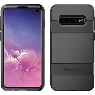 pelican c49030 samsung galaxy s10 black voyager phone case