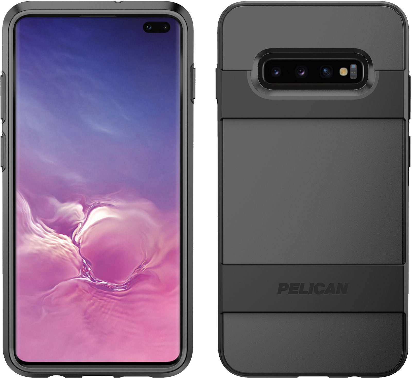 pelican c50030 samsung galaxy s10 plus black voyager phone case