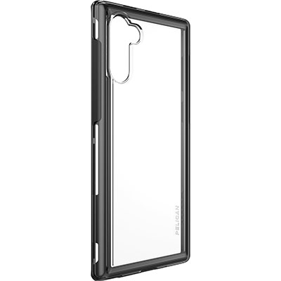 pelican samsung note10 adventurer clear black phone case