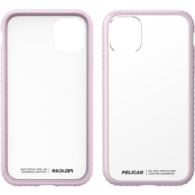 pelican c55160 guardian iphone clear pink case