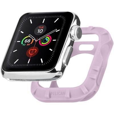 pelican pp043396 protector apple watch bumper mauve 42mm