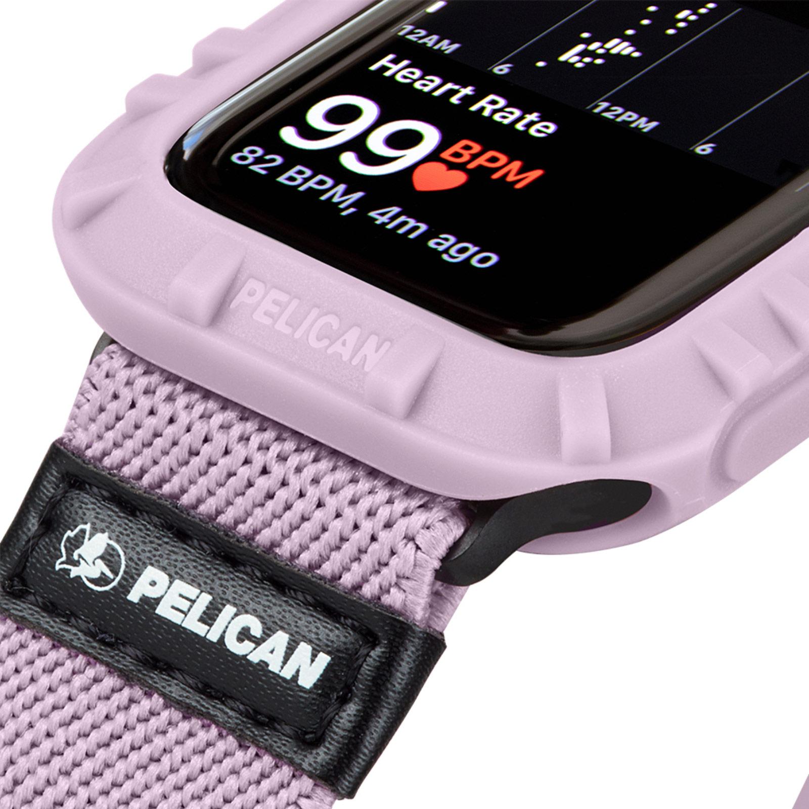 pelican pp043396 protector apple watch bumper mauve 44mm