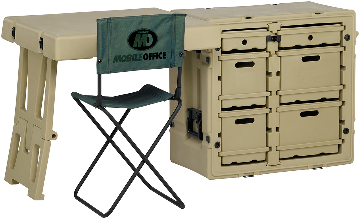 pelican mobile military office desk