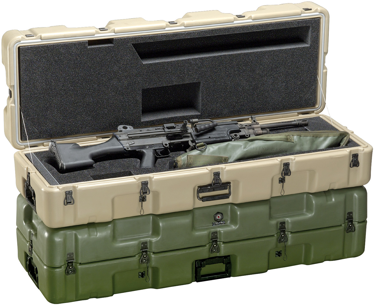 pelican military M249 machine gun case