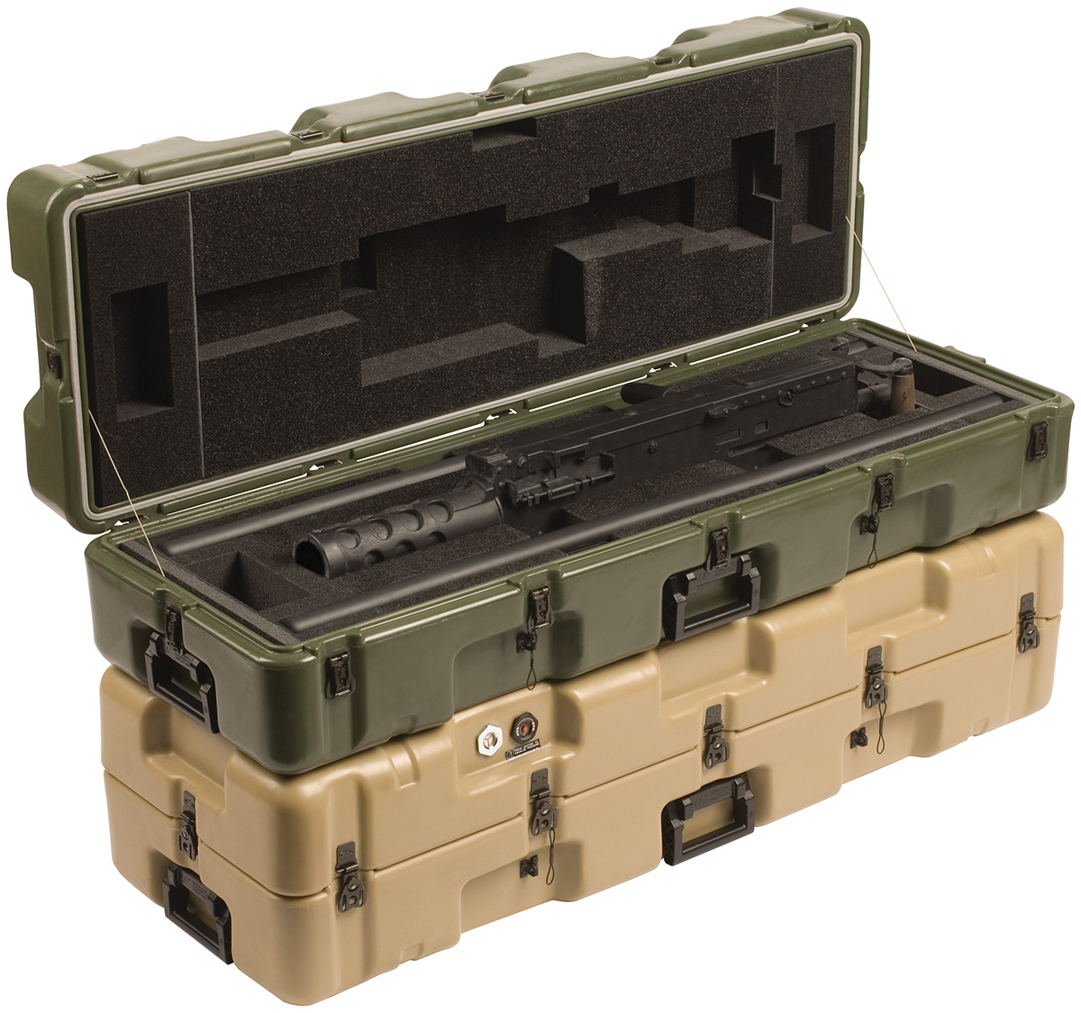pelican peli products 472 M2W2BBLS military m2 gun transport case