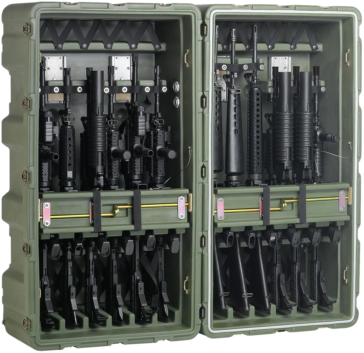 pelican peli products 472 M4 M16 12 usa military m4 m16 large case