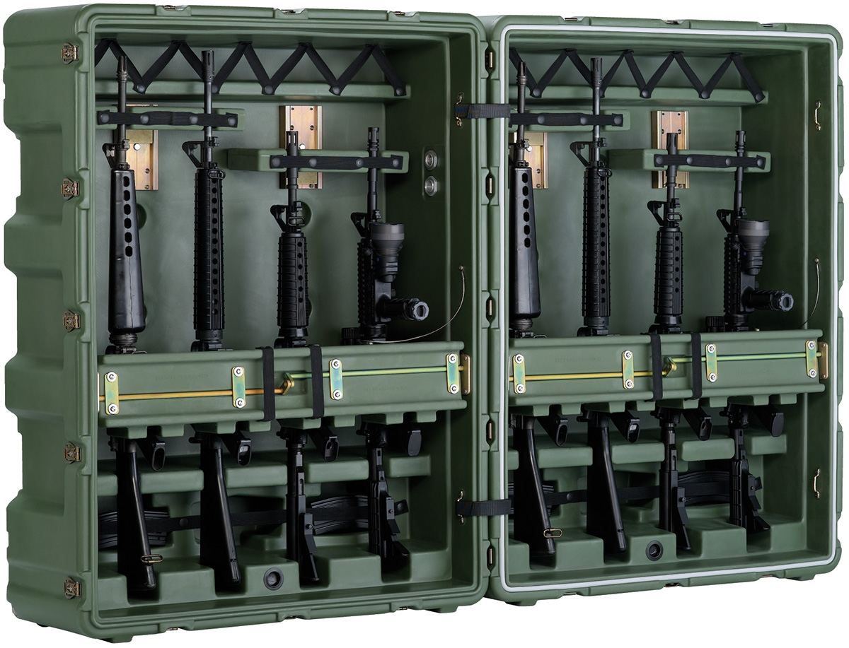 pelican peli products 472 M4 M16 8 usa military m16 transport box