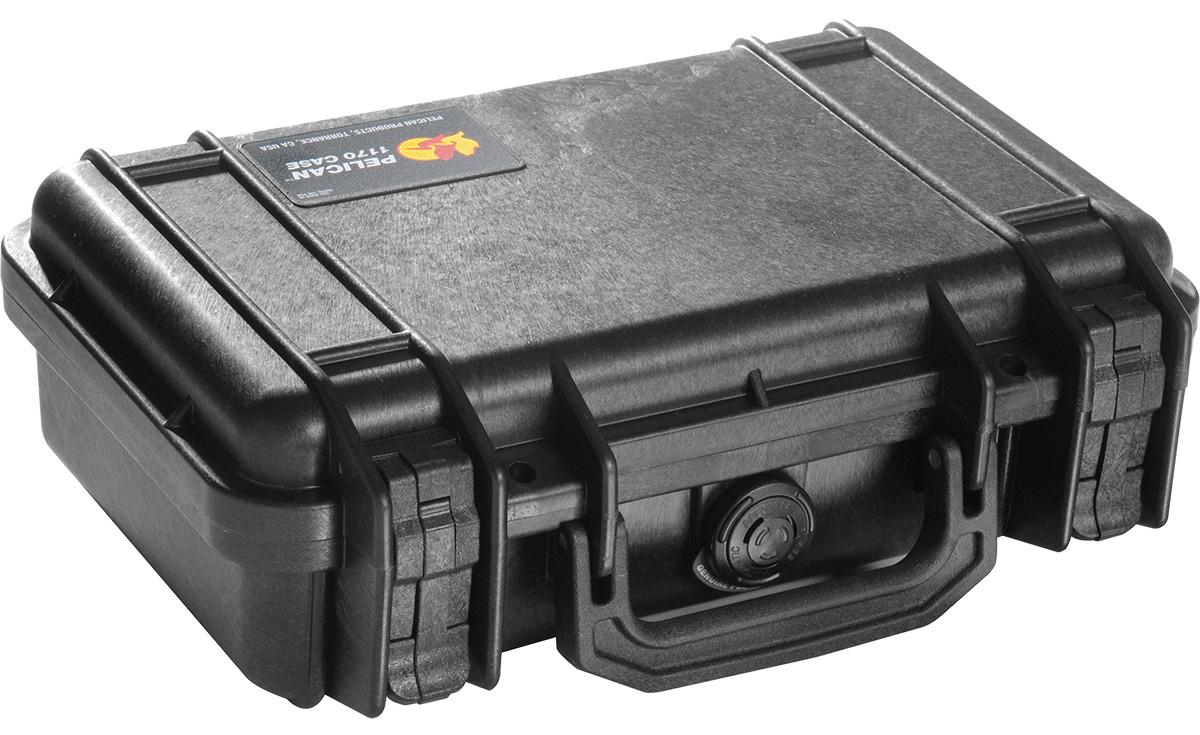 pelican watertight pistol gun glock case