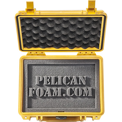 pelican custom case foam yellow case