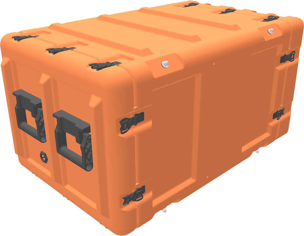 peli min mac rack case mr8u-40-610-100