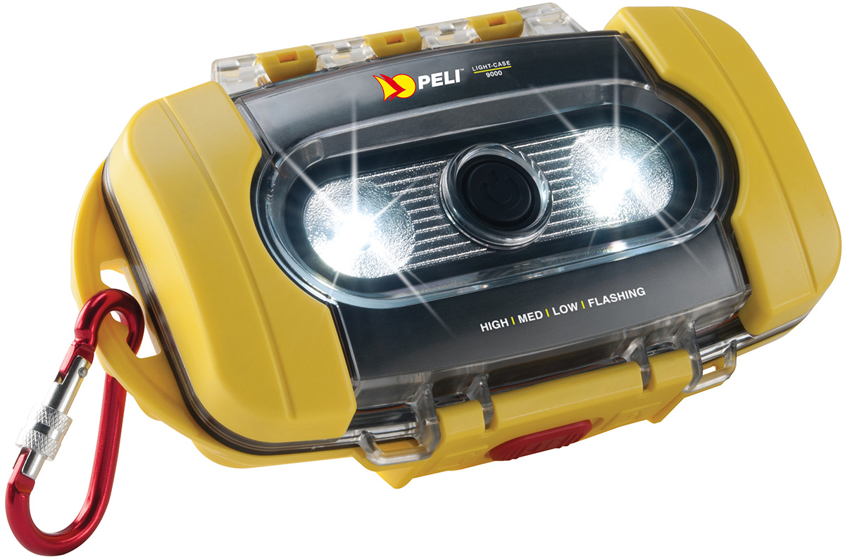peli 9000 led light case watertight caselight