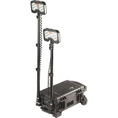 pelican portable spot light led battery powered