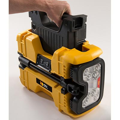 peli led spot light battery 9480 rals