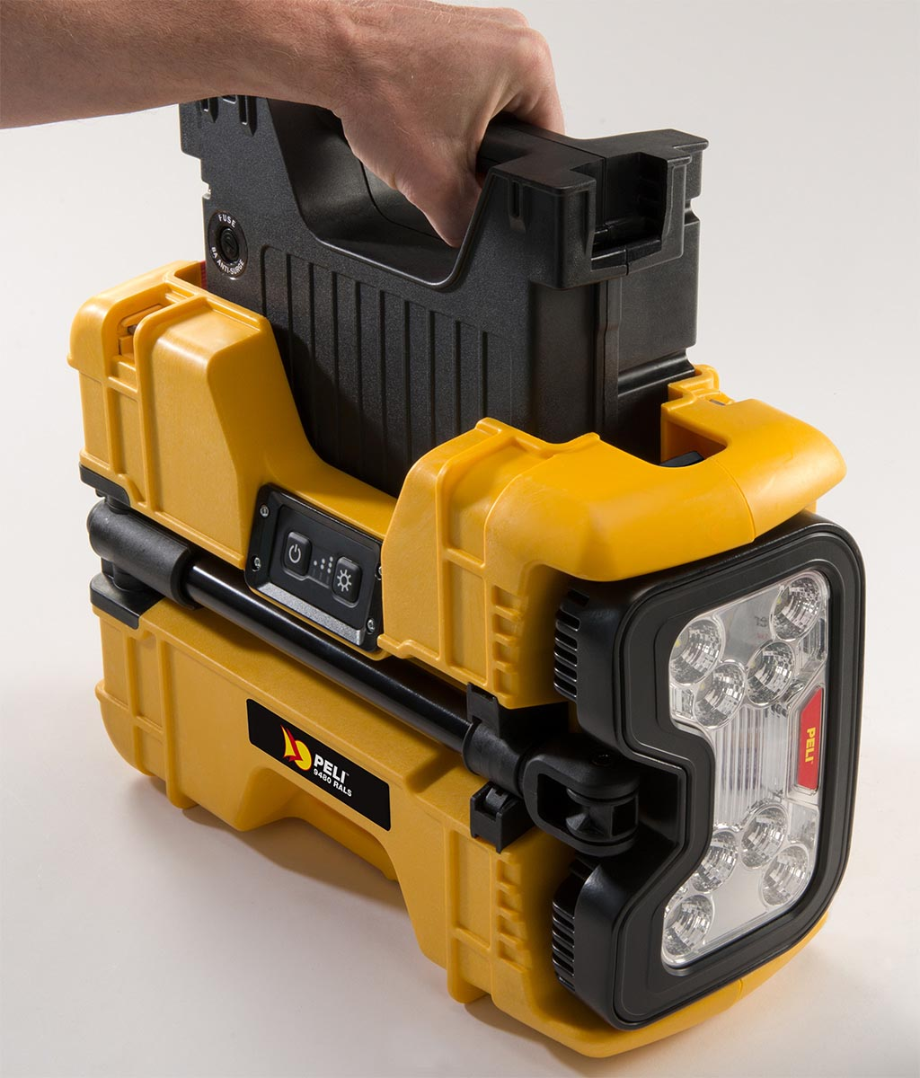 peli 9480 led spot light battery rals