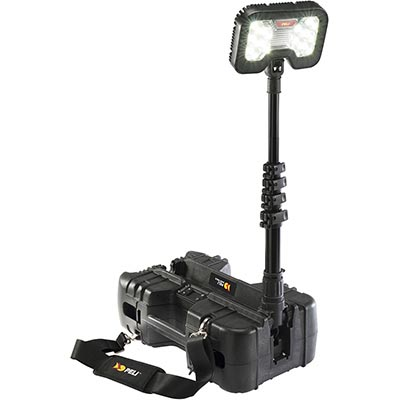 peli 9490 tall led portable spot light lamp