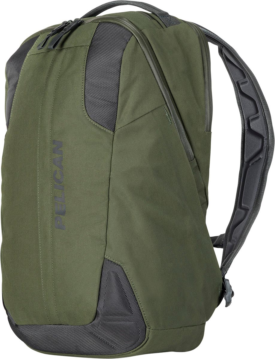 pelican green travel backpack laptop bag