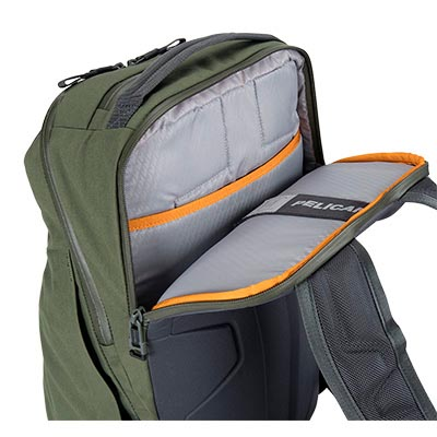 pelican green waterproof laptop backpack