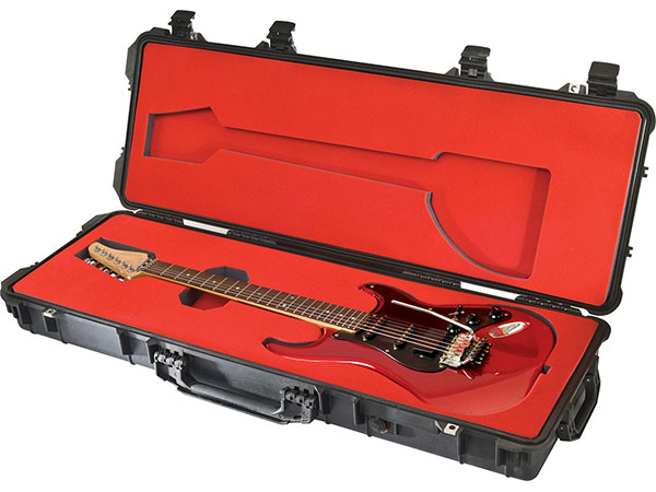 Pelican guitar case and custom foam