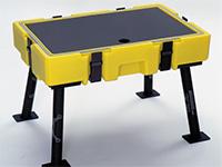 Pelican case chair leg table kit