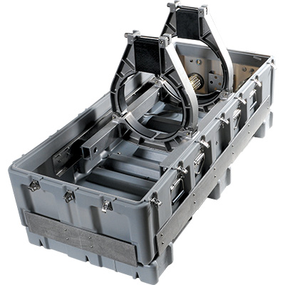 pelican welded cradle mount custom case