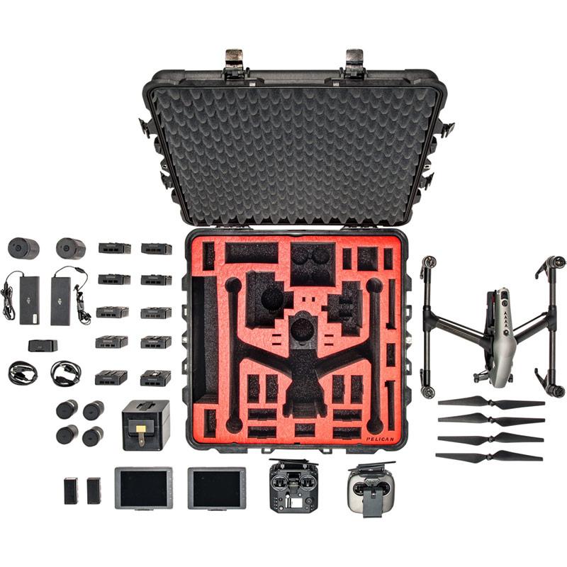 pelican inspire 2 hard drone accessory case