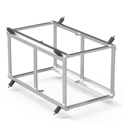 pelican rack mount vertical support